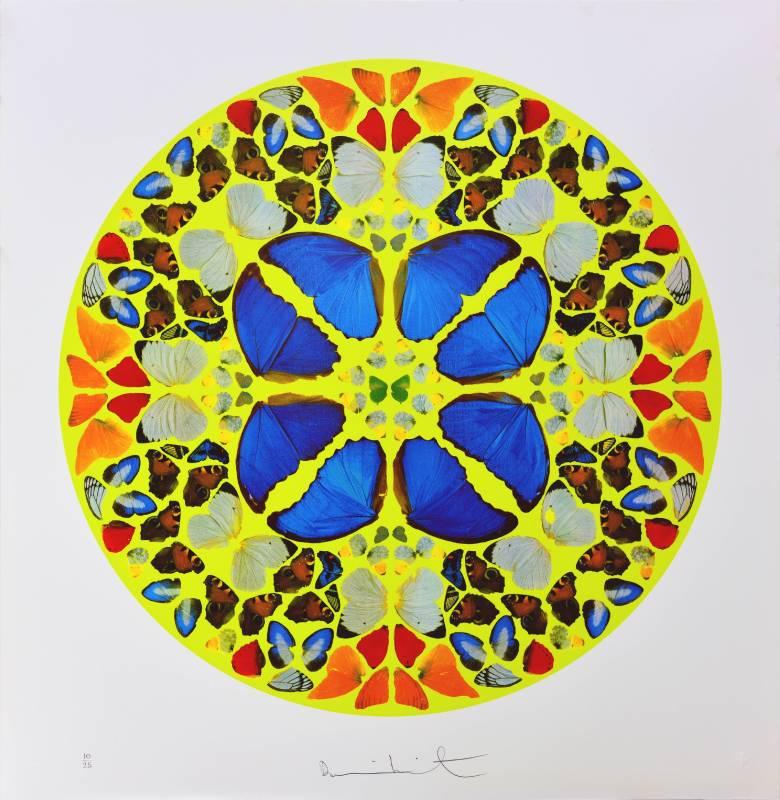Damien Hirst|Psalm-Domine, Dominus Noster|2010|Silkprint|74x71cm