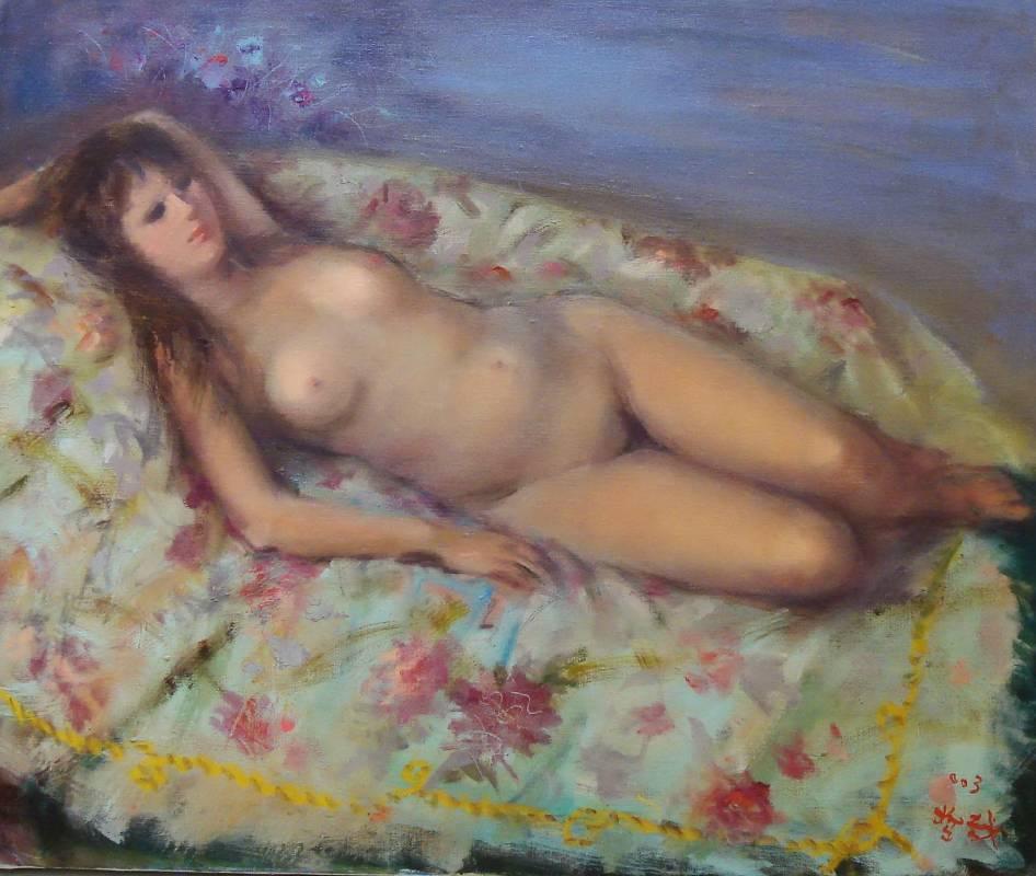 沈哲哉|裸女|2003|油彩|50x60.5cm