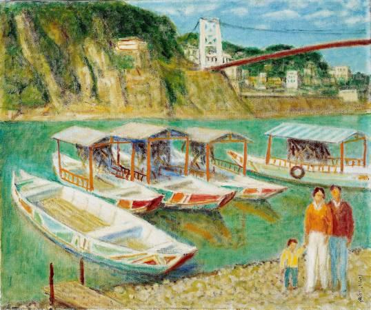 李石樵 碧潭風光 1983 油彩 72.5x60.5cm