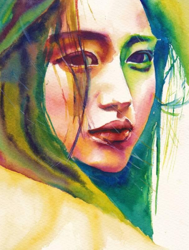 Joan Huang水彩作品6