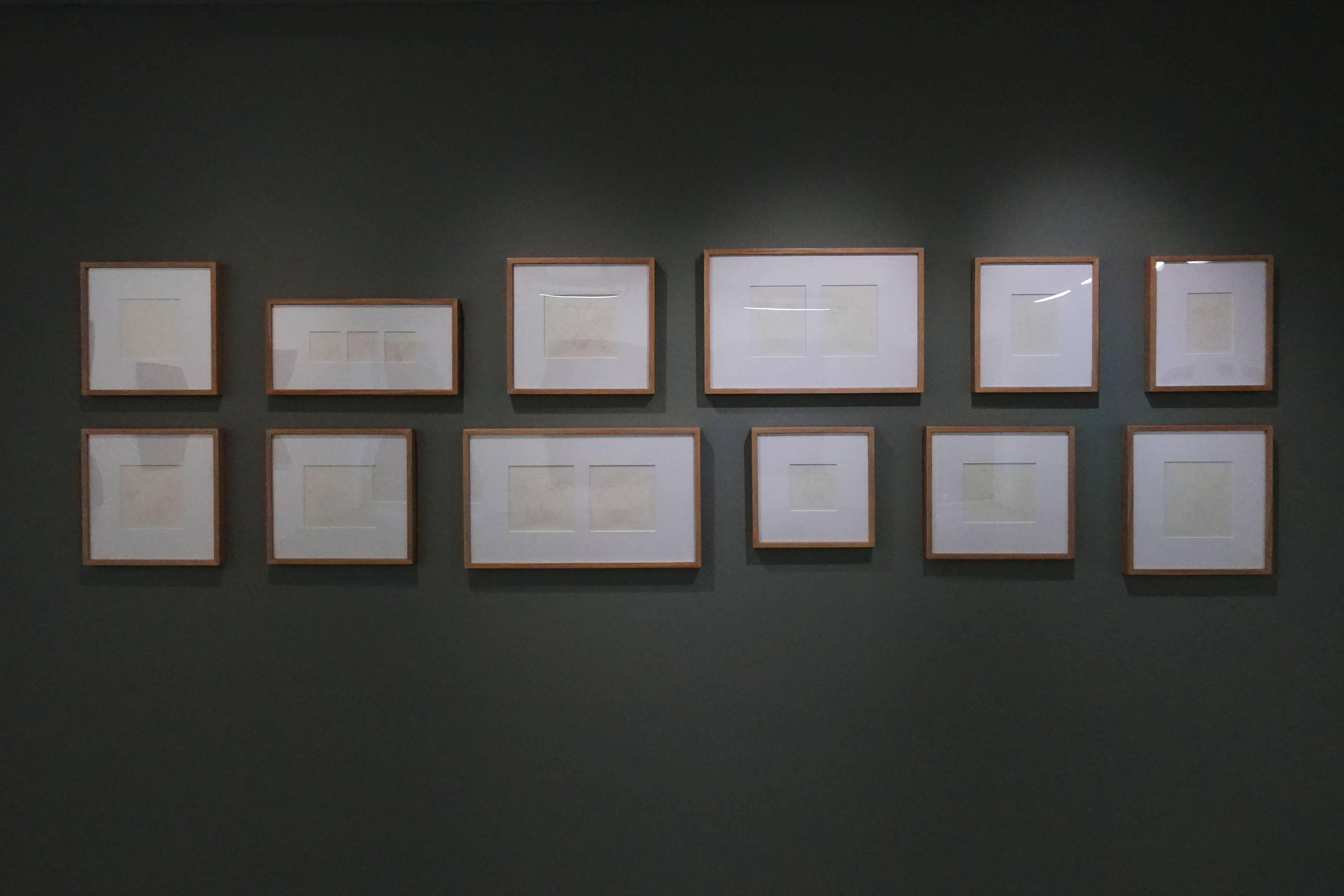 双方藝廊「未定物-吳東龍個展」手稿展覽一隅。