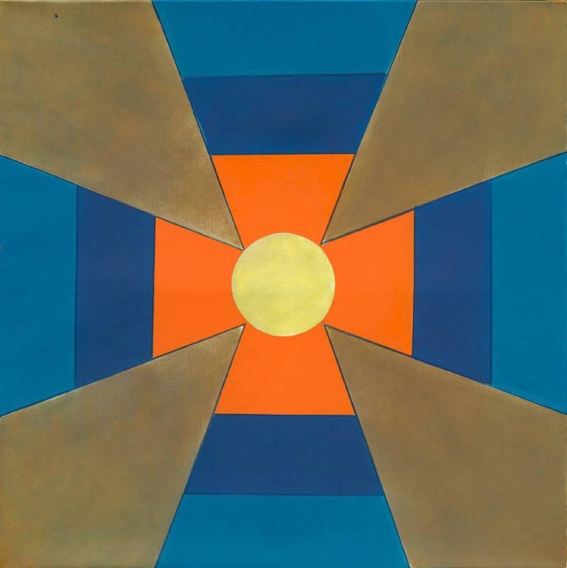 霍剛《抽象2014-049》,油彩畫布,150x150cm,2014。圖/采泥藝術
