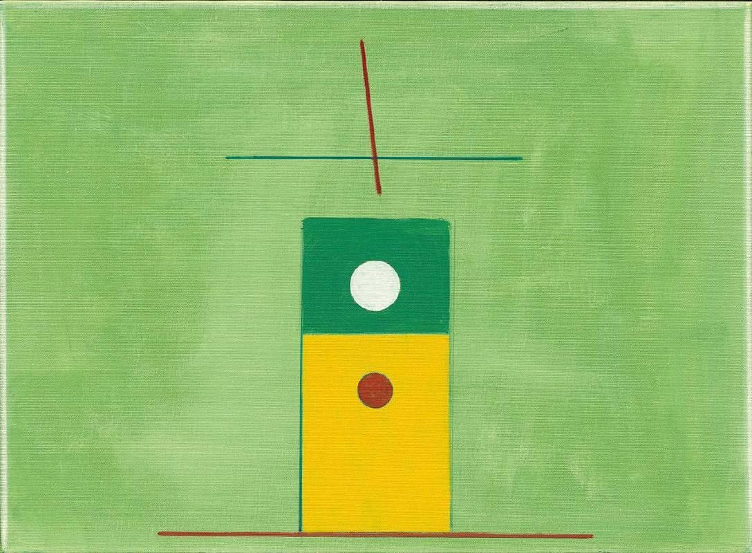 霍剛《抽象2015-003》,油彩畫布,72x53cm,2015。圖/采泥藝術