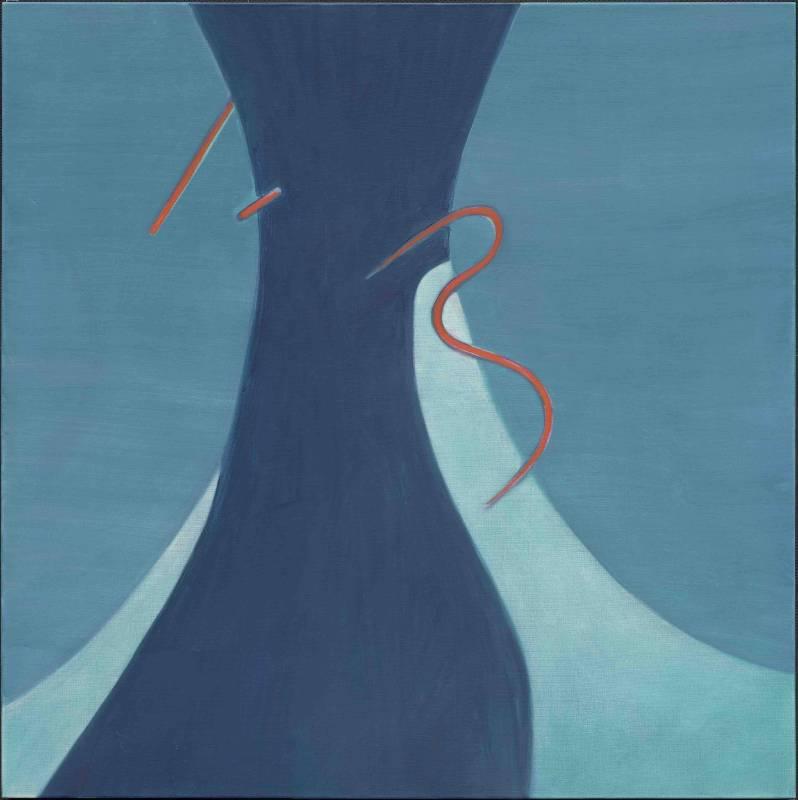 霍剛《開展之37》,油彩畫布,160x160cm,2010。圖/采泥藝術