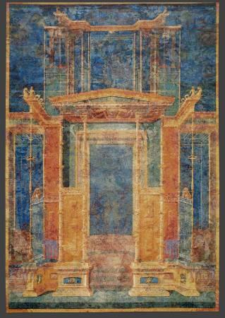 Mythos V (Pompeii - Thangka fusion, blue & orange)