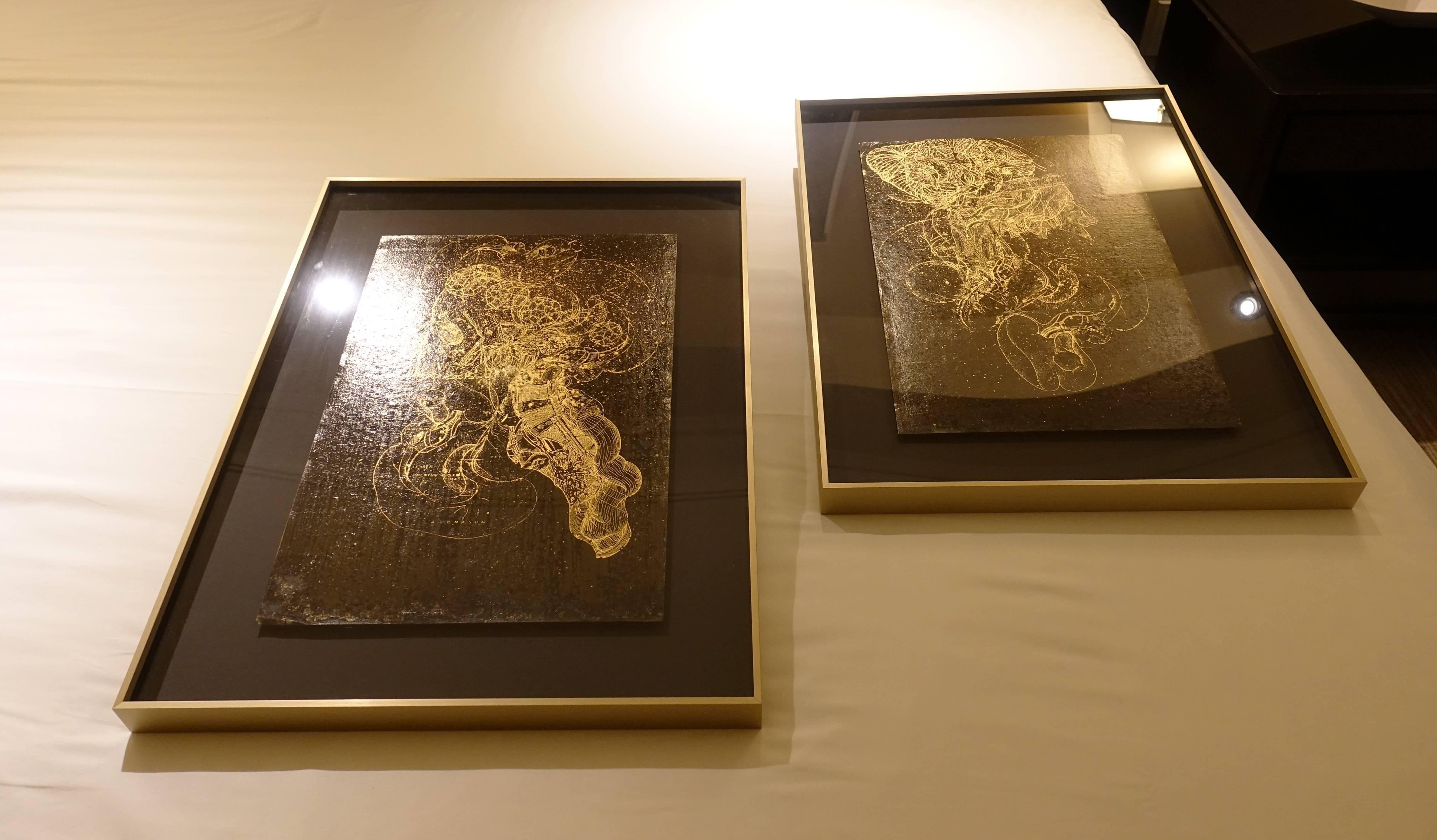 木木藝術展出藝術家黃至正作品。