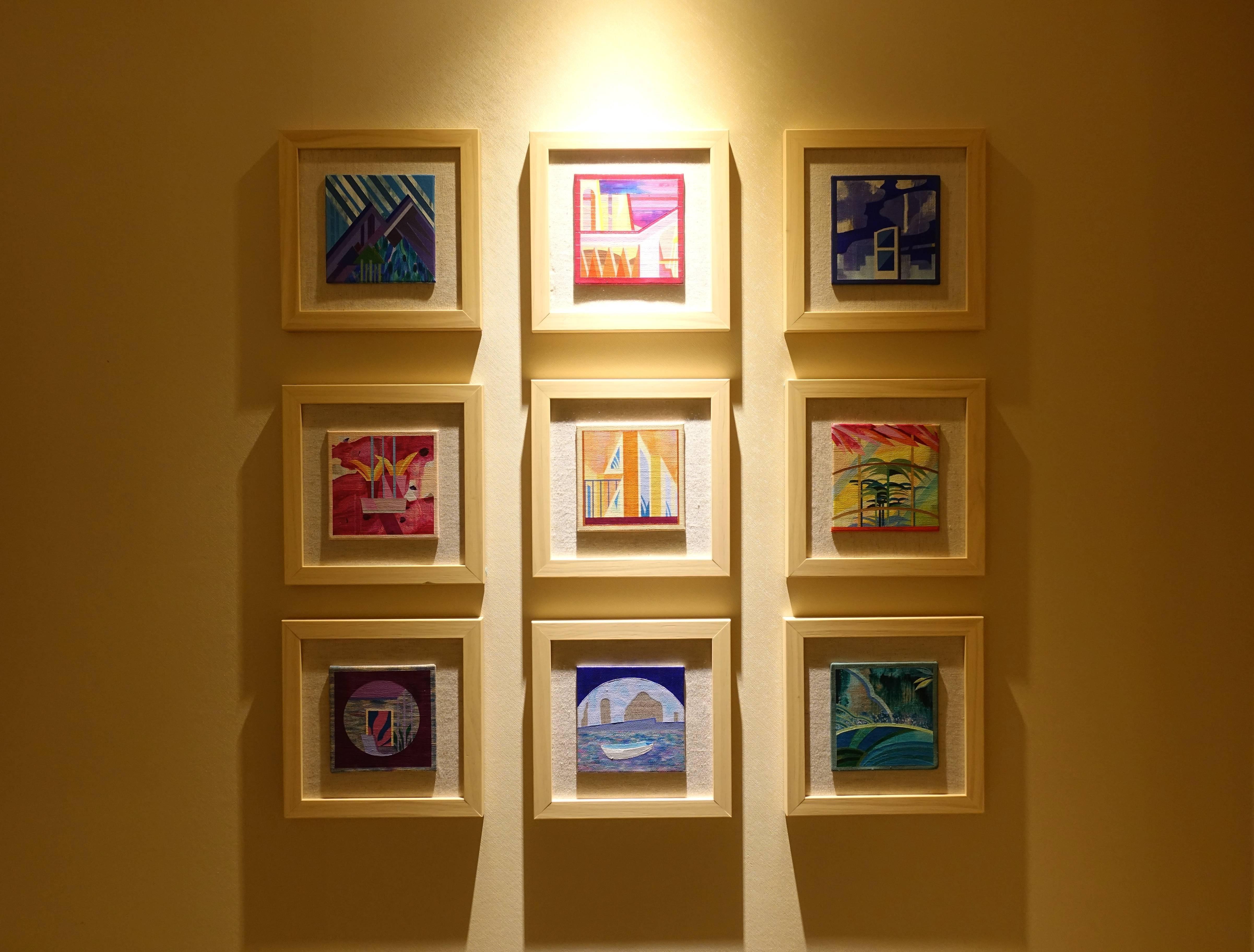 木木藝術展出藝術家溫孟瑜作品。