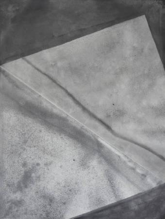 藤原志保 ,《Shiho Fujiwara》, 折的展開 18-11 ,2018,中國墨於和紙上,74.8x56.5cm。圖/取自白石畫廊