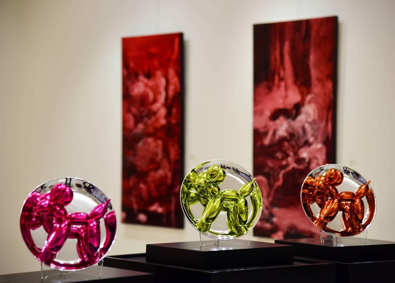 Jeff Koons 傑夫昆斯 Balloon Dogs 氣球狗群組 2015 陶瓷 26.7x26.7x12.7 cm