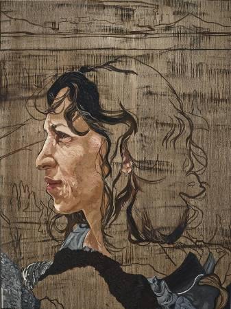 《創造/ 相似 PN》,2018,油彩畫布,182.9 x 137.2 cm