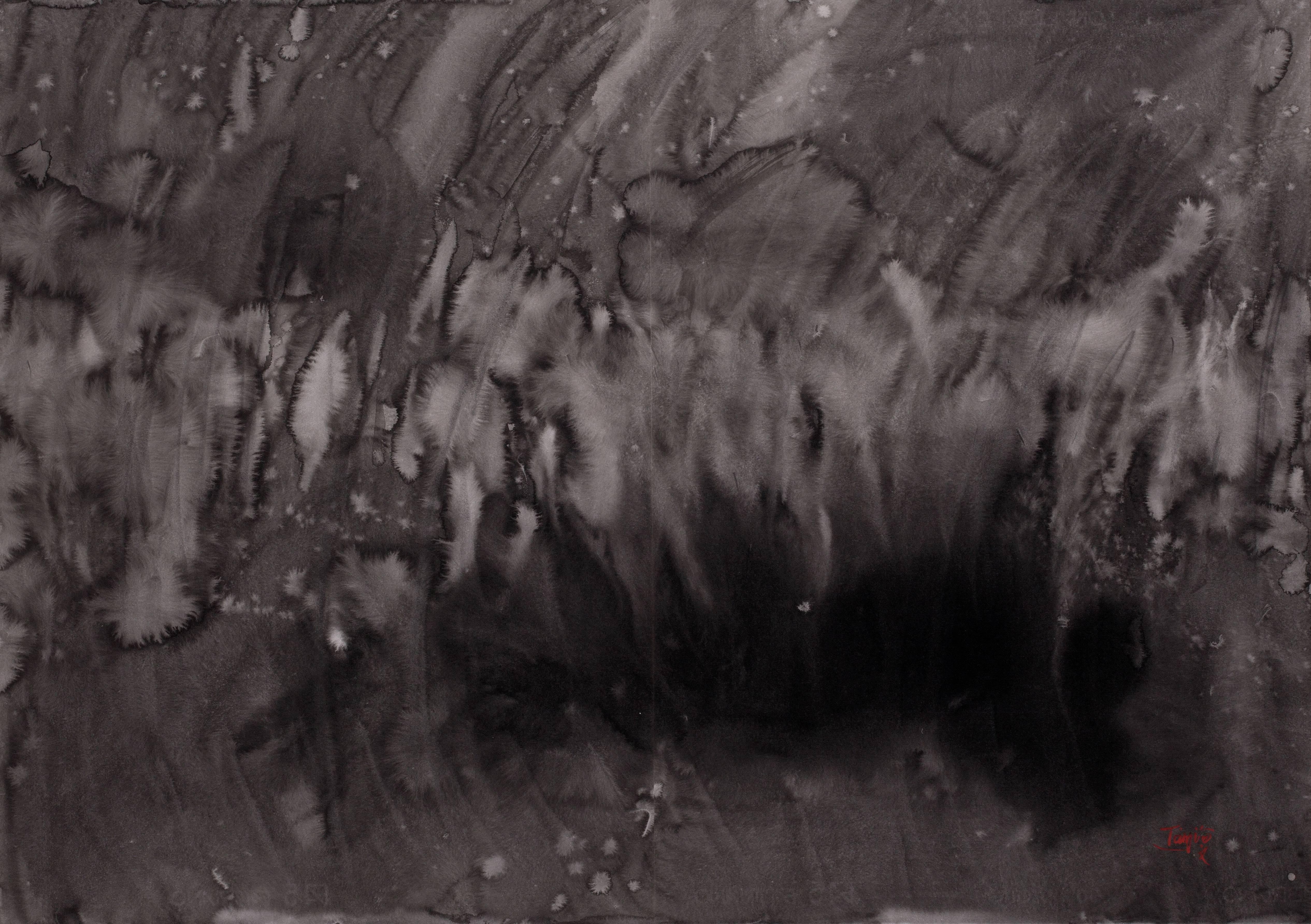 曾海文 抽象 水墨 70x100cm (雙聯幅)
