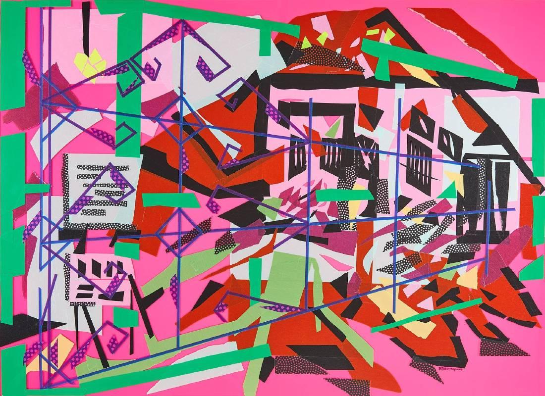 吳芊頤 遺跡之地 I 2018 複合媒材 110×80cm