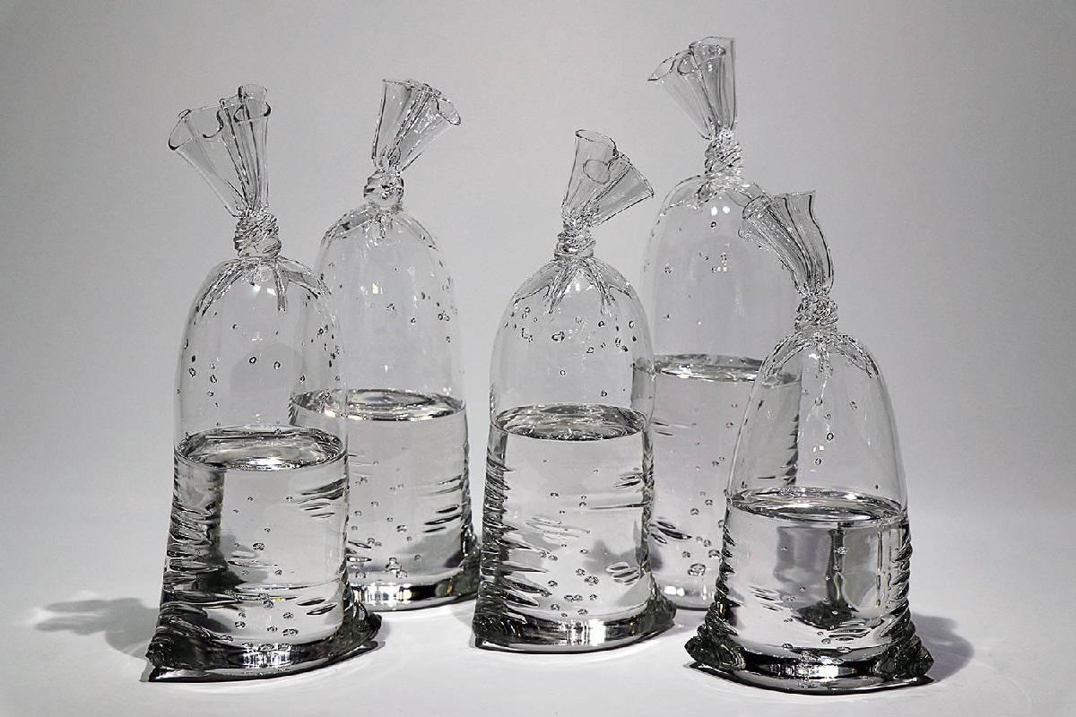 Water Bag,2018, Glass sculpture