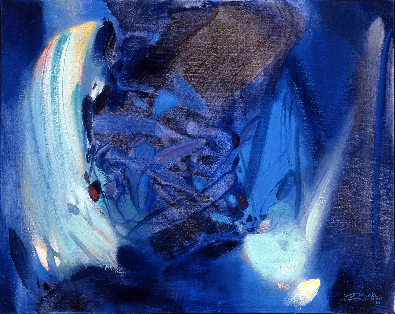 朱德群 奔流的彩虹 1993 油彩 65x80cm