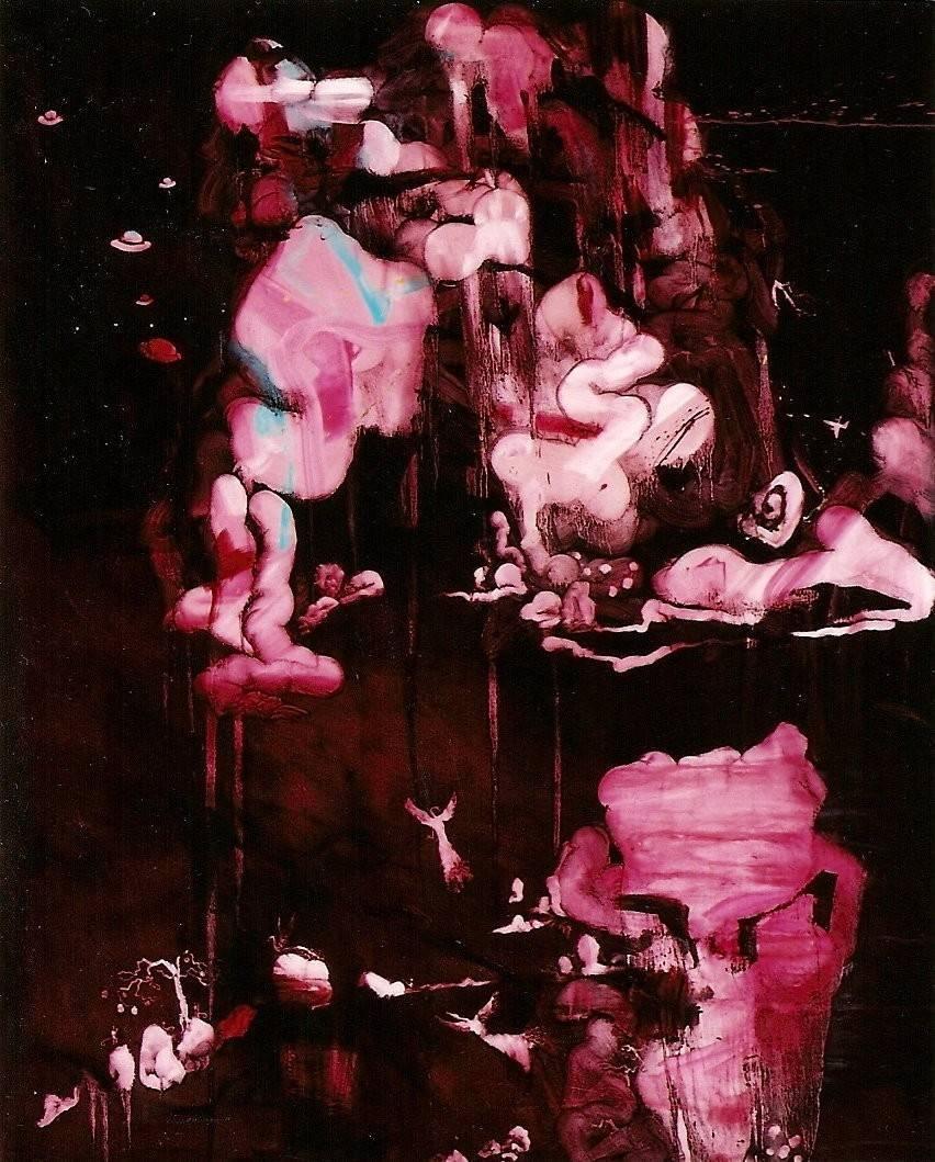 常陵|五花肉-肉山水-秀水不盡鳥趣圖|2007|油彩|162x130cm