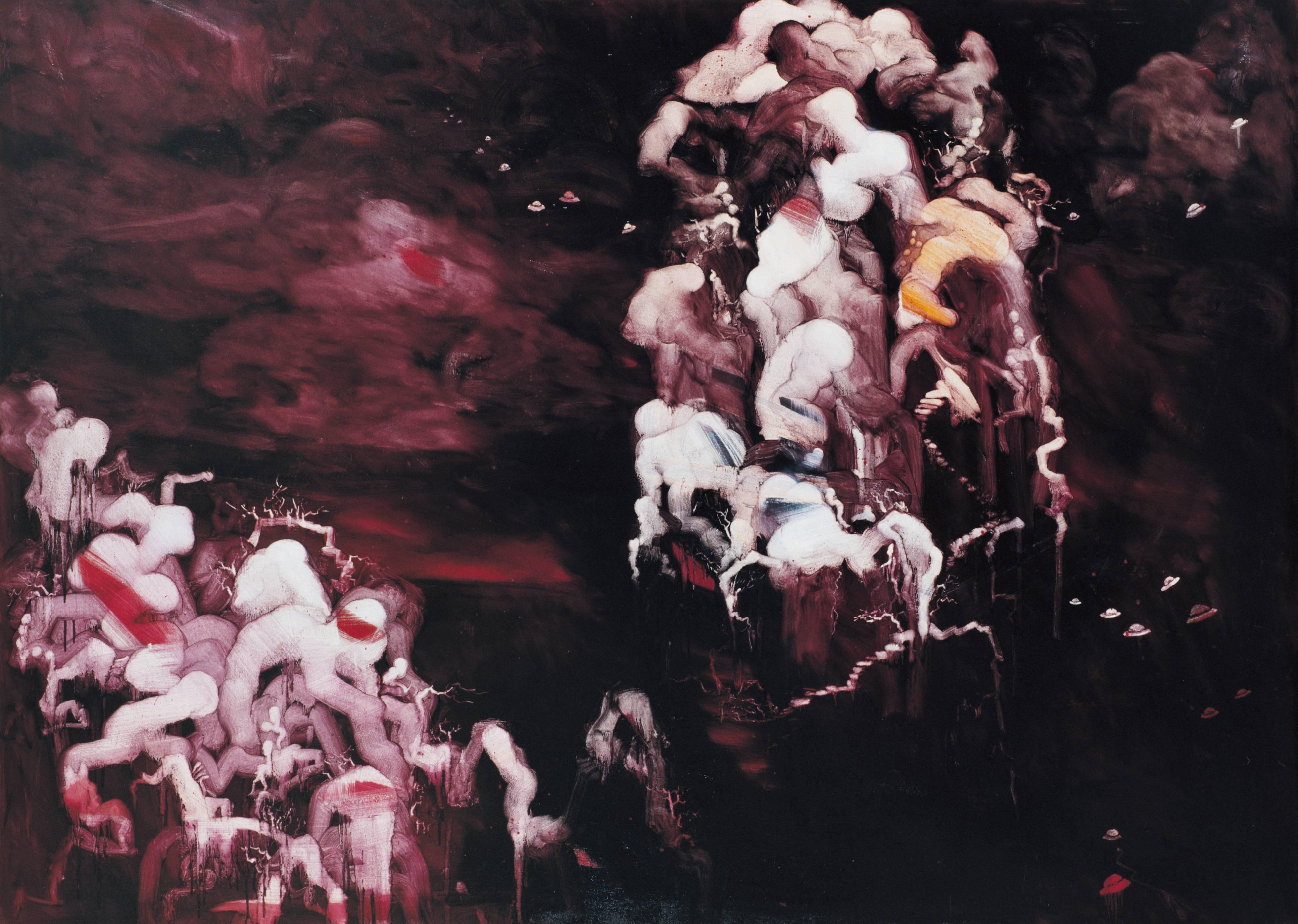 常陵|五花肉-肉山水-虎山求道圖|2007|油彩|182x227cm