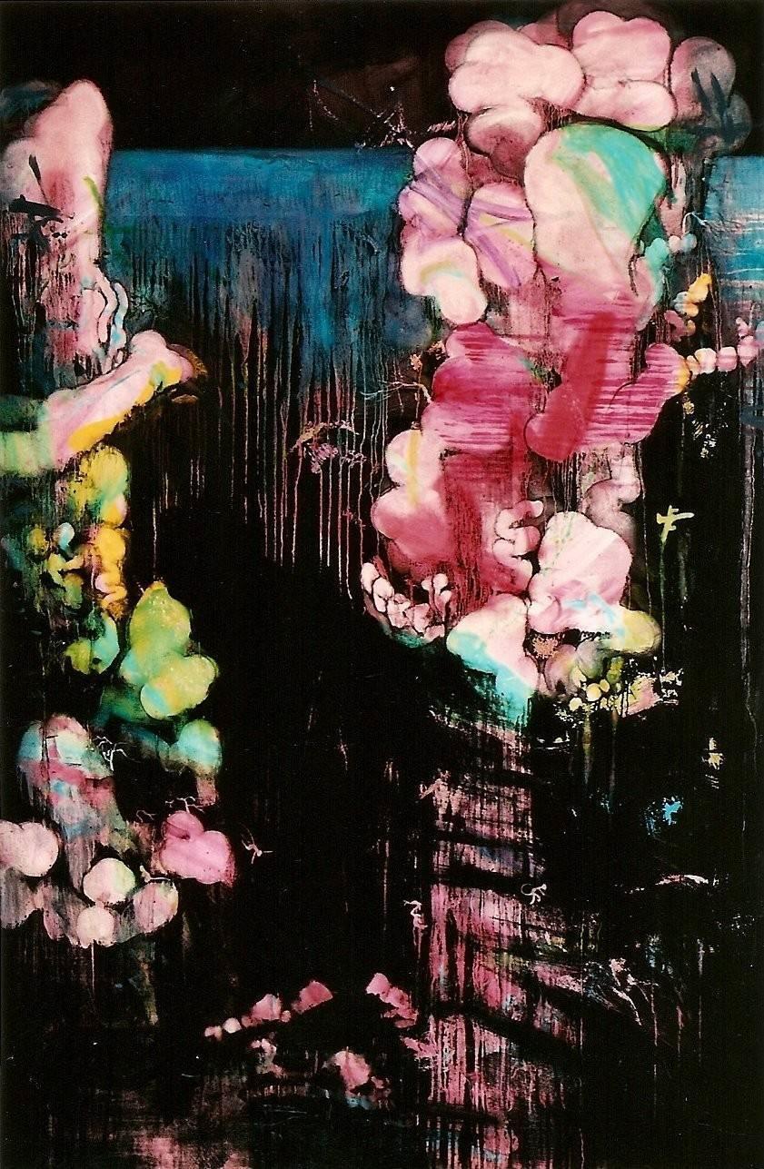 常陵|五花肉-肉山水-雨後餘虹圖|2007|油彩|193x130cm