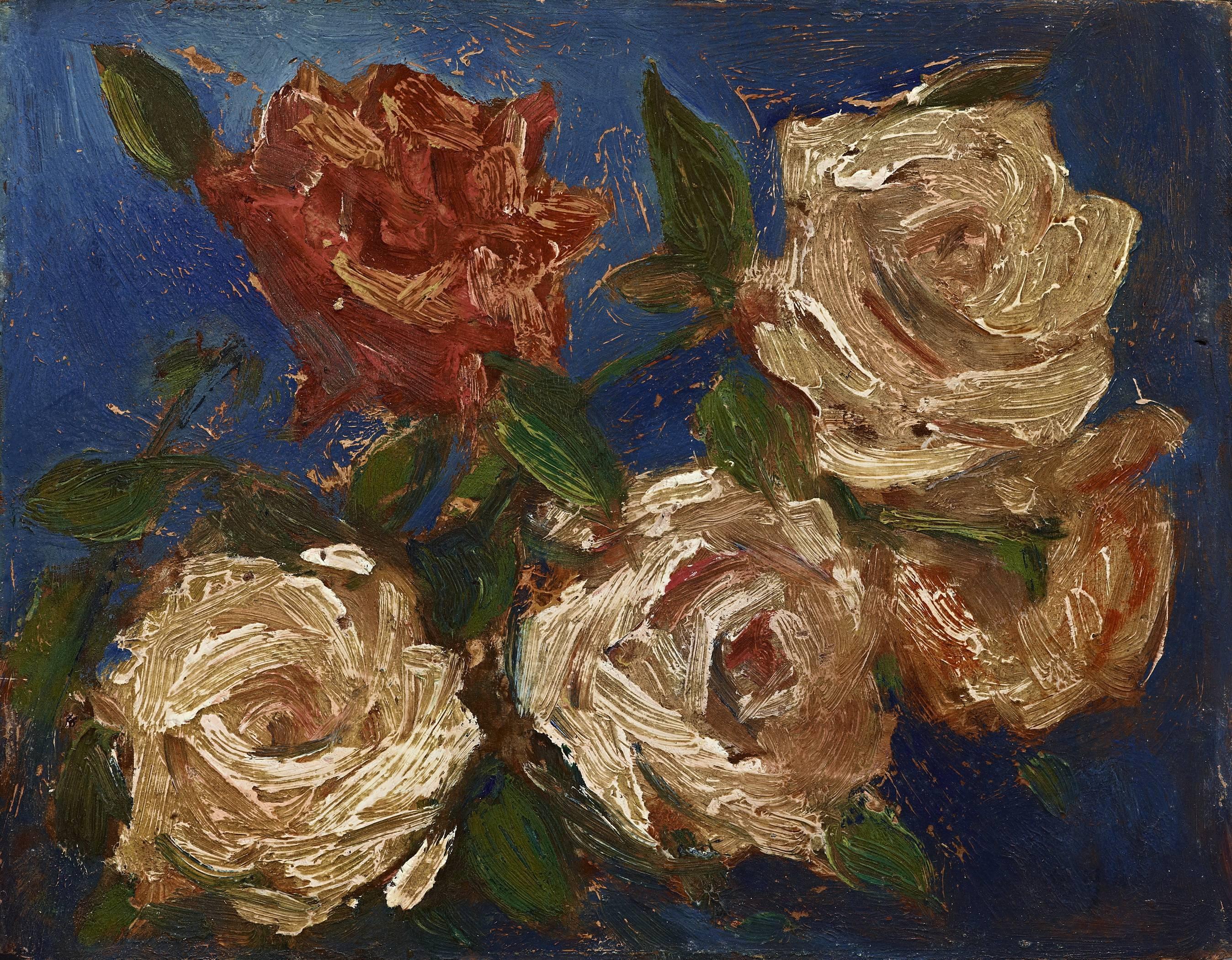 楊三郎|玫瑰花|1940|油彩|22x27cm