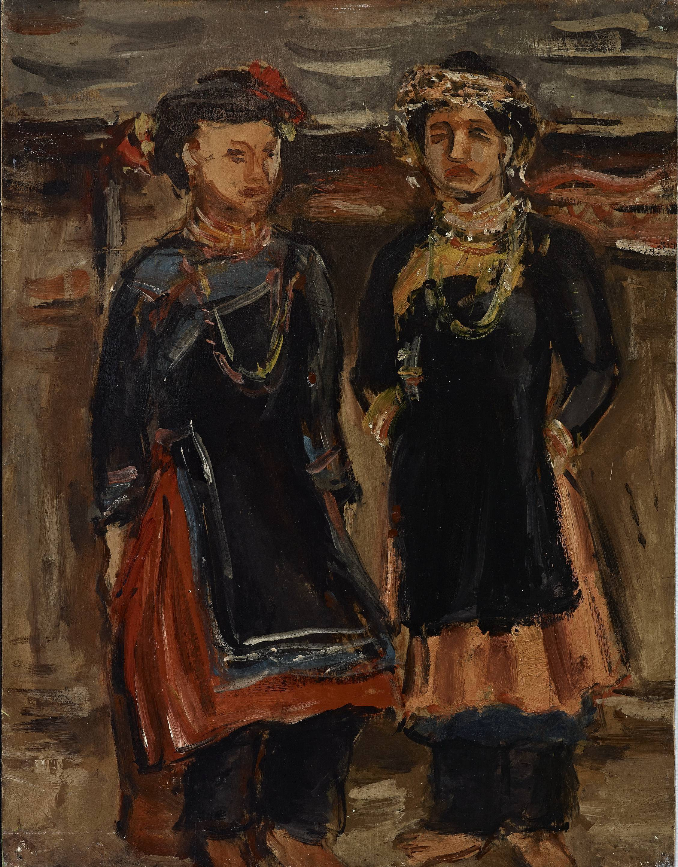 楊三郎|著禮服的原住民|1929|油彩|41x31.5cm