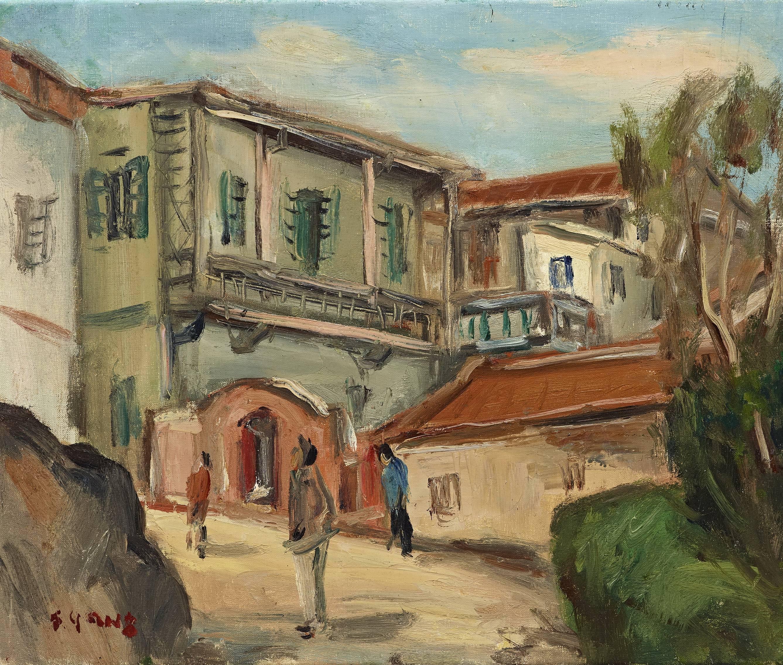 楊三郎|廈門所見(鼓浪嶼)|1935|油彩|38x45.5cm