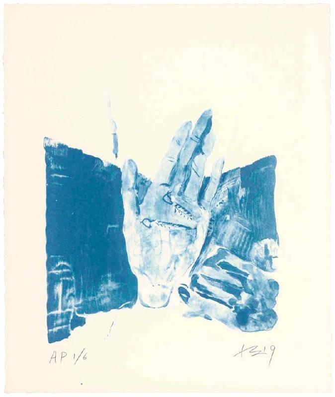 劉小東,紅孩兒戴耳環1,2019,石版畫/紙,45 x 38 cm丨30 Ed. + 6 AP