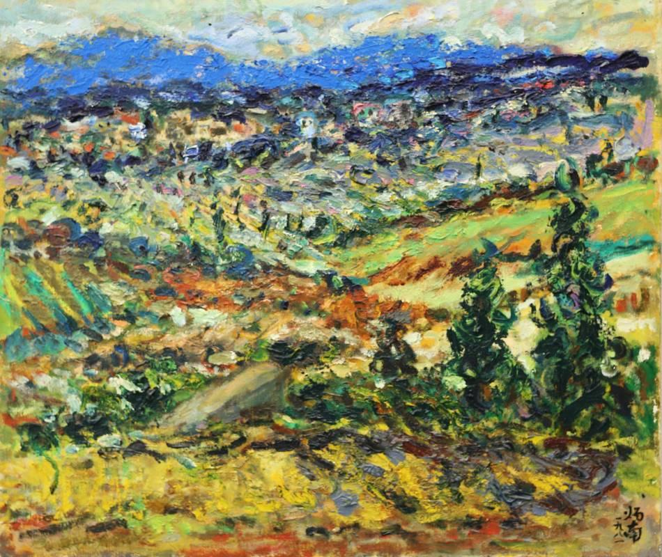 張炳南 大肚山上 1981年 45.5x53cm(10F) 油彩畫布