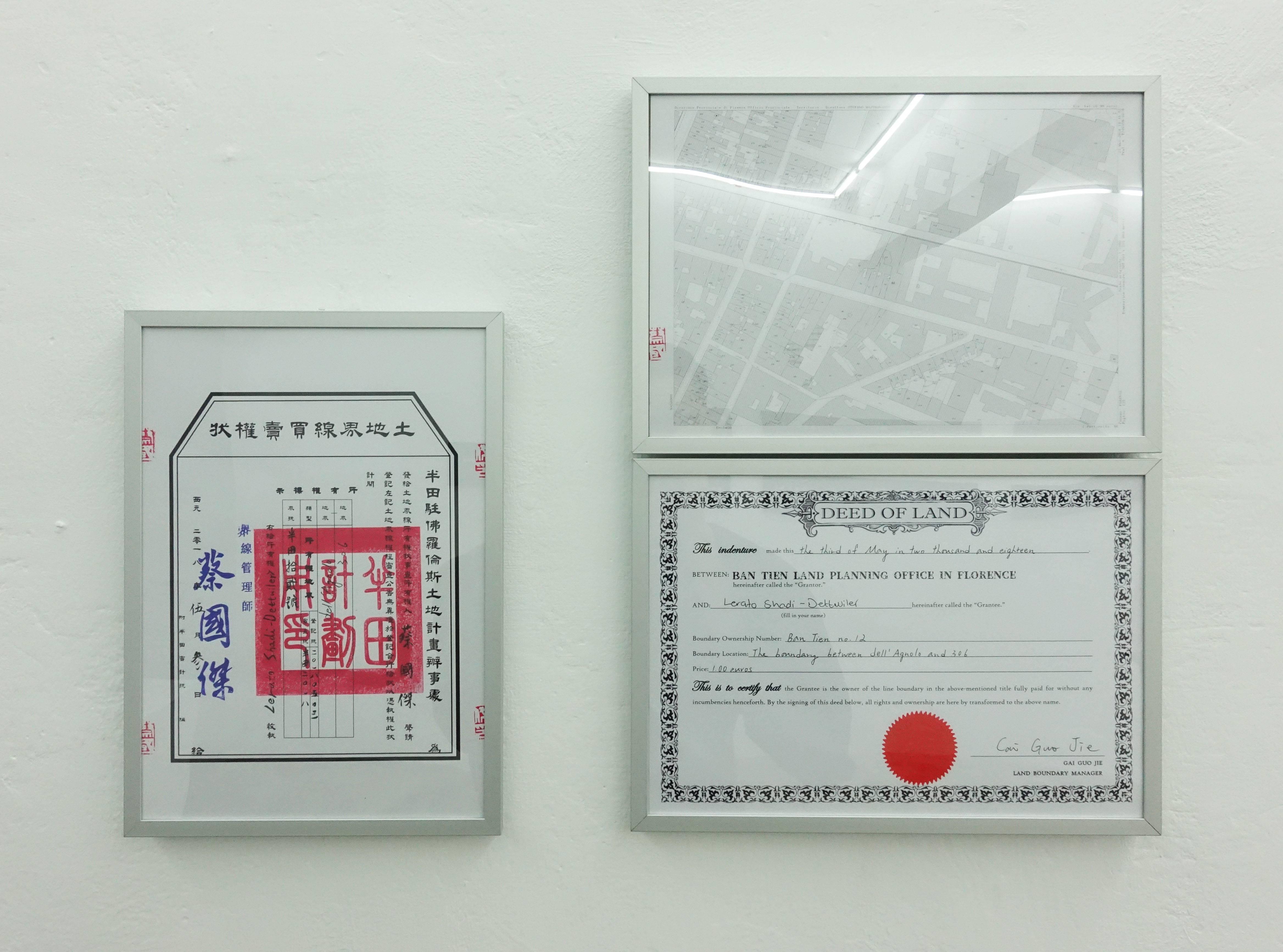 蔡國傑,《Le Murate》,21 x 29.7cm,紙本權狀,2019。