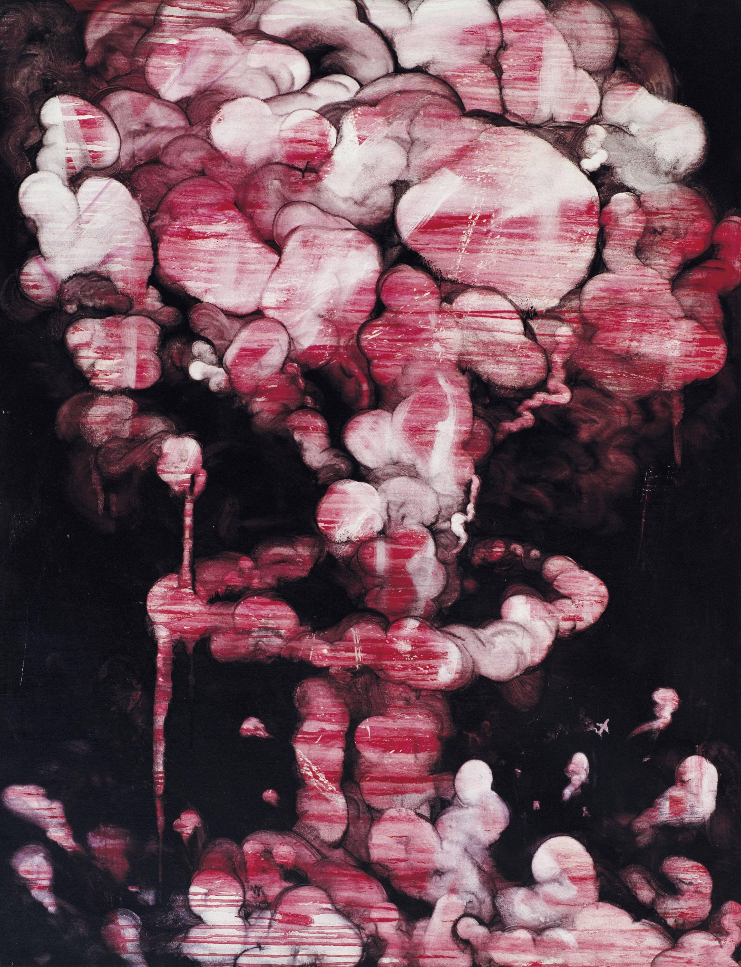 常陵|五花肉系列-肉兵器-肉核彈|2007|油彩|146x112cm