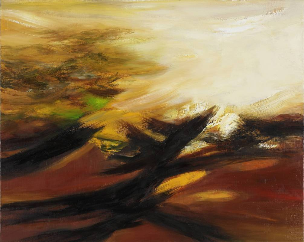 塵三 Chen San ,奔入 Running Into,  油畫 Oil on canvas ,72.5x91cm ,2018