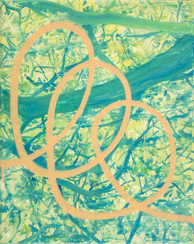 許常郁 無題 16 2017 油彩、壓克力噴漆、畫布 50×40cm