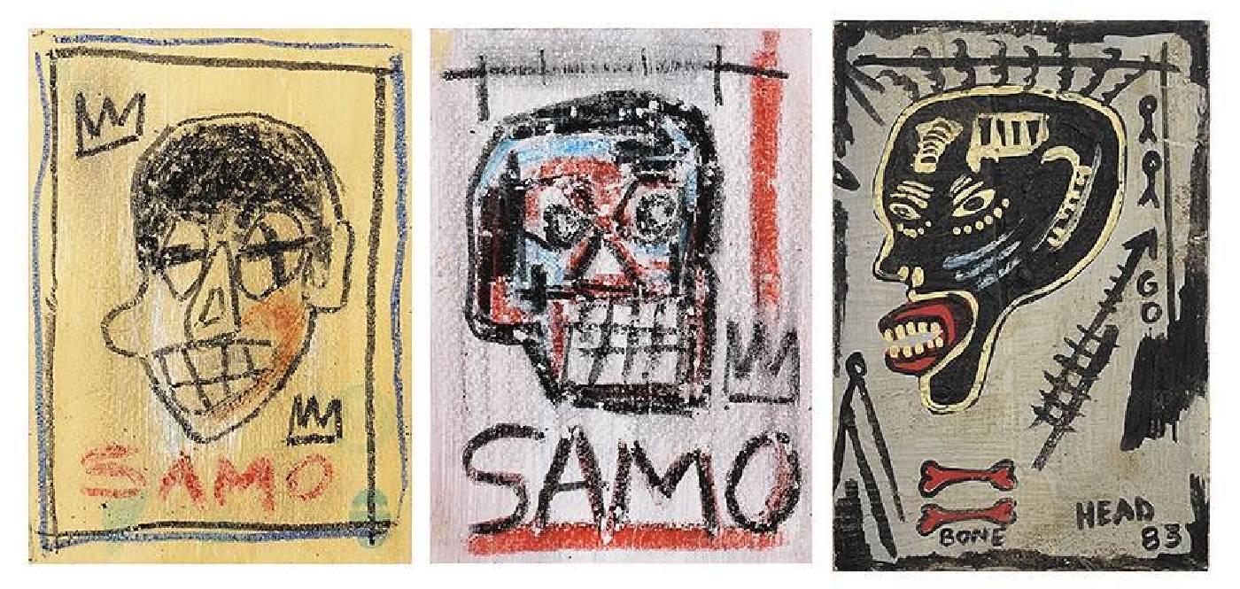 巴斯奇亞,明信片,複合媒材,約10 x 15cm,1978(左),1980(中),1983(右)