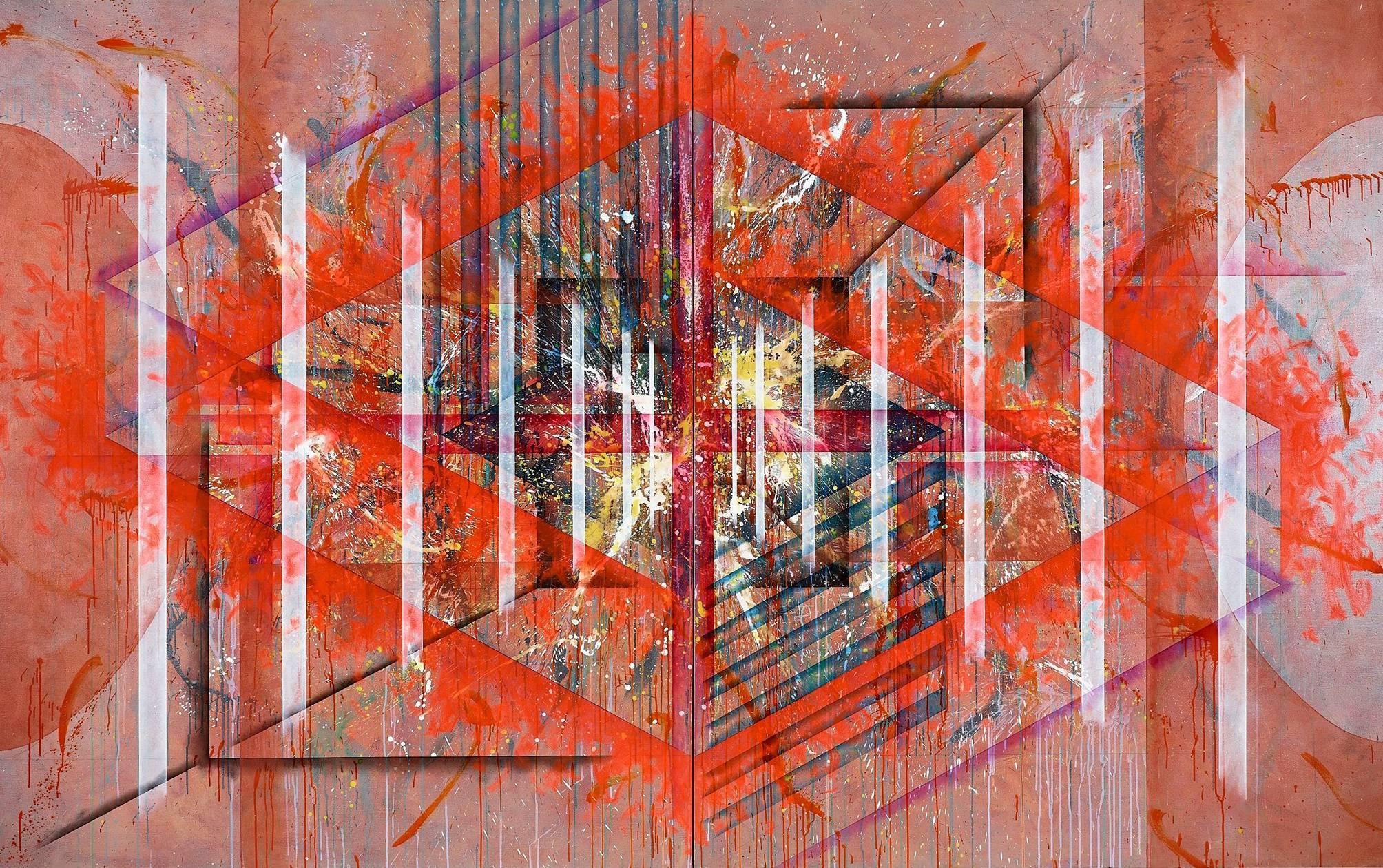 楊仁明|構成|2011|壓克力、油彩|227x364cm