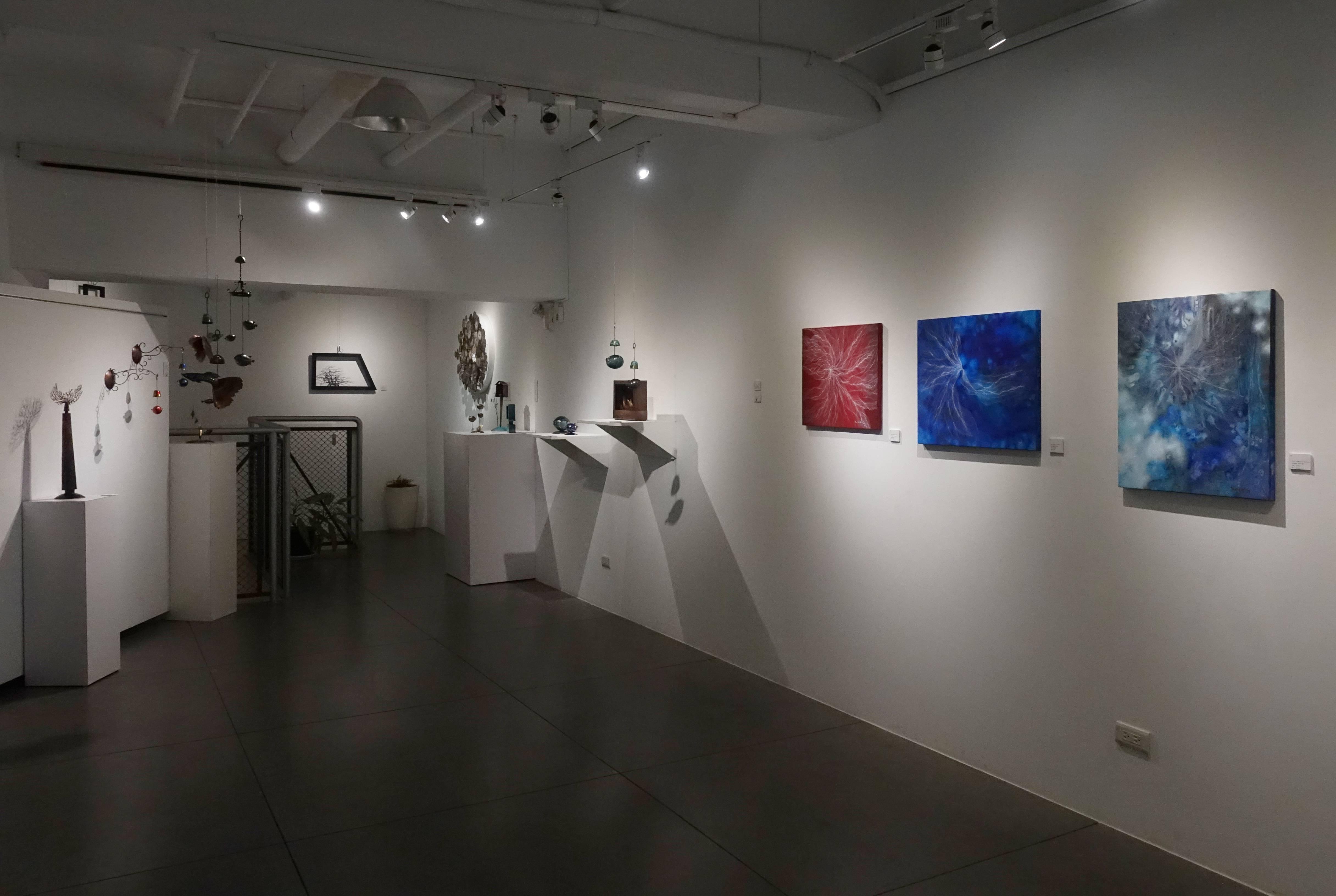 CC Gallery【秘境自然 韓國藝術家聯展】展覽現場一隅。