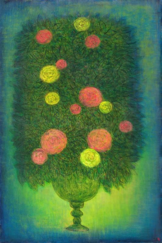 生命之花-2 Blossoms of Life-2 180x120cm 油畫、畫布 Oil on canvas 2018