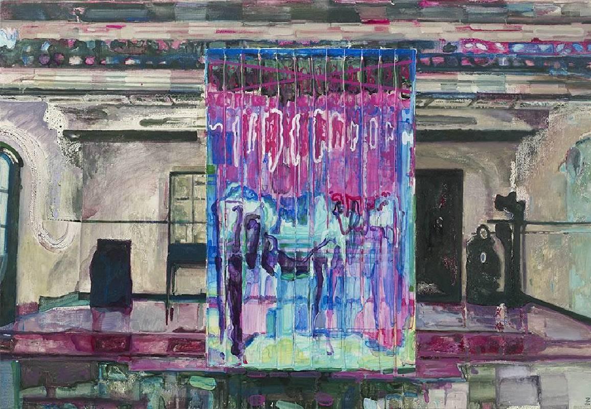 《立方體》  2019 壓克力彩、畫布  112x162.2 cm