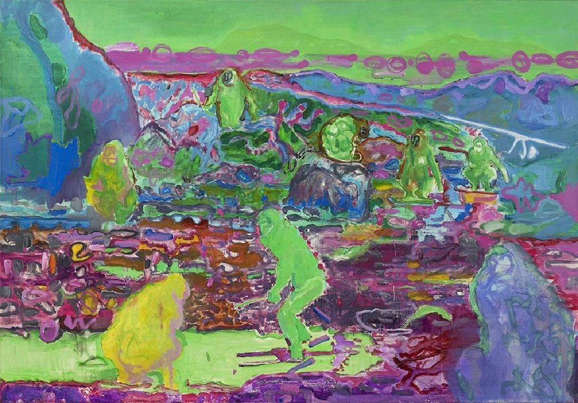《猿》  2019 壓克力彩、畫布 112.1x162.2 cm