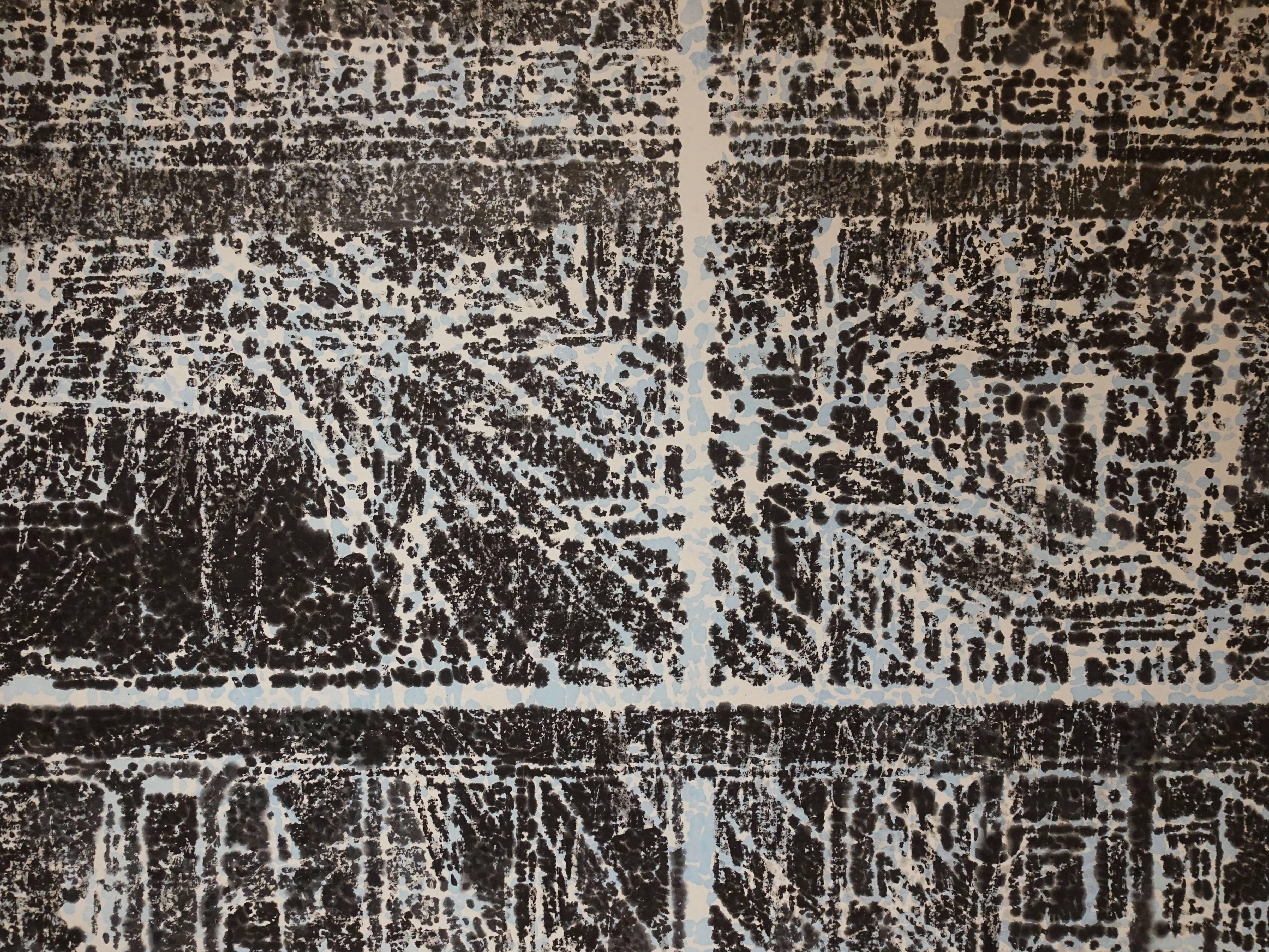 柯偉國,《身體的日常移動-3》細節,設色紙本,2017。