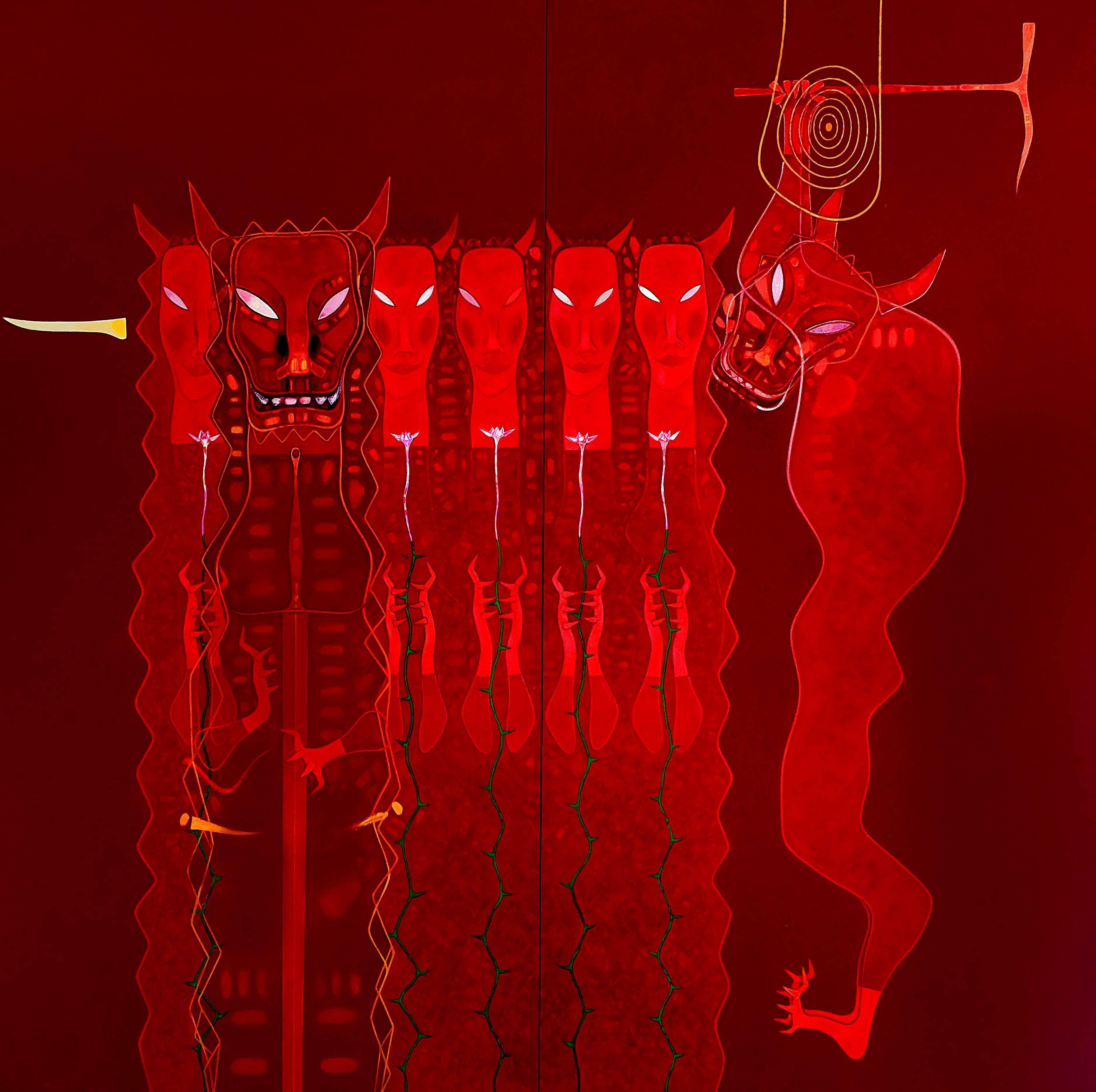 黃銘哲|千錘百鍊-王者再現|2008-09|364x364cm