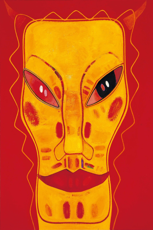 黃銘哲|面對北京|2008-09|油彩|182x121cm