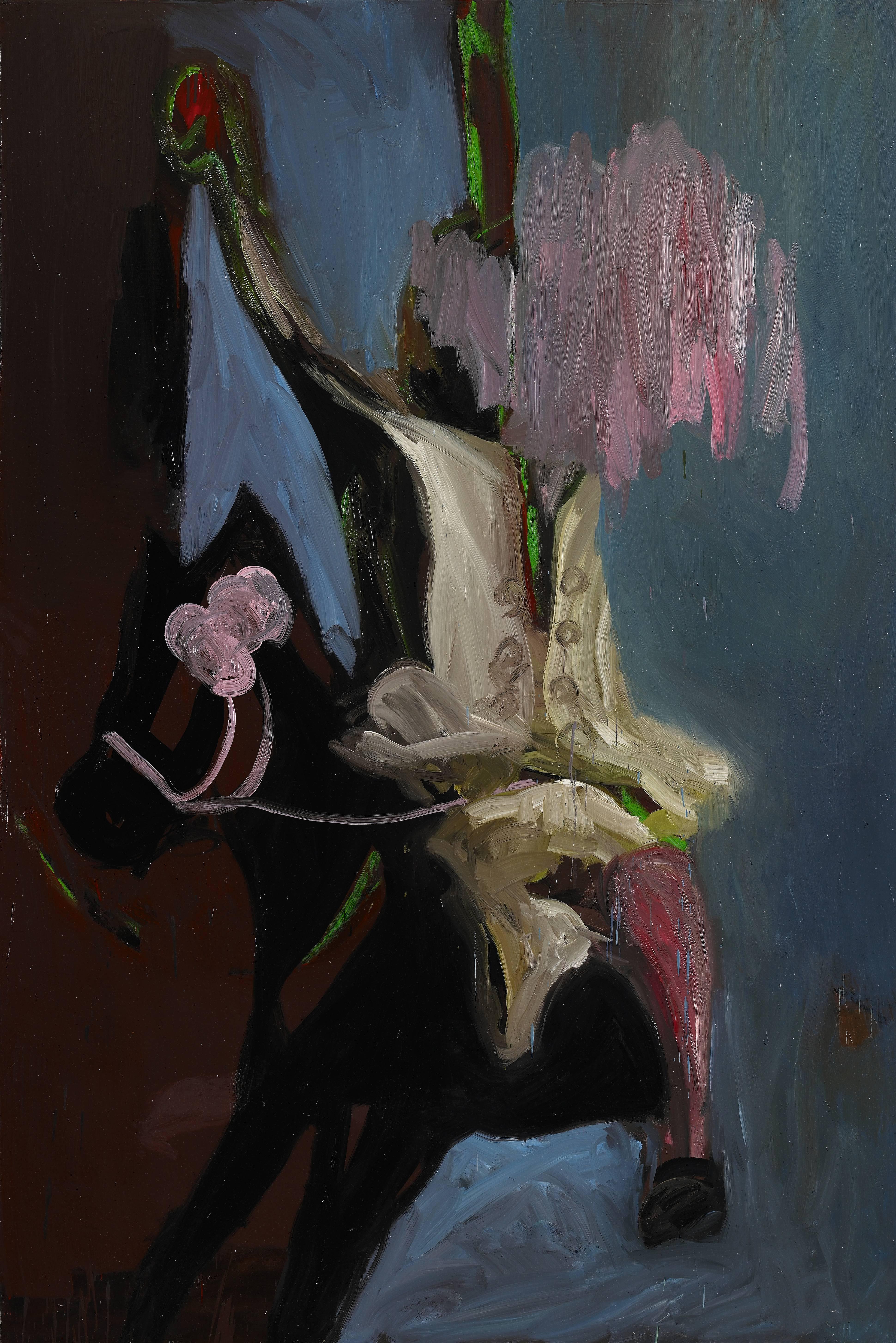 常陵|大玄玄社會-轉木馬|2013|油彩|190×130cm