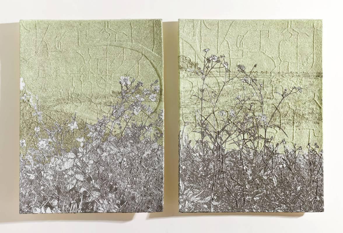 楊明迭 YANG Mingdye 草衣201802 Grass Coat 201802 (1/8)紙漿、併用版 Paper Pulp, Combining techniques90x83x8cmx22018