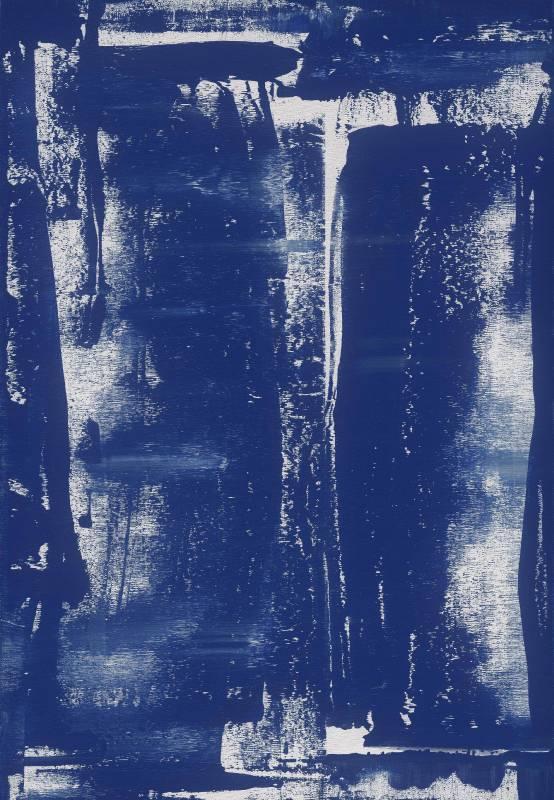 黃騰輝 Robert Huang_心之韻律-星空編號15 Starry Night No15_壓克力、畫布 Acrylic on Canvas_118x81cm_2017