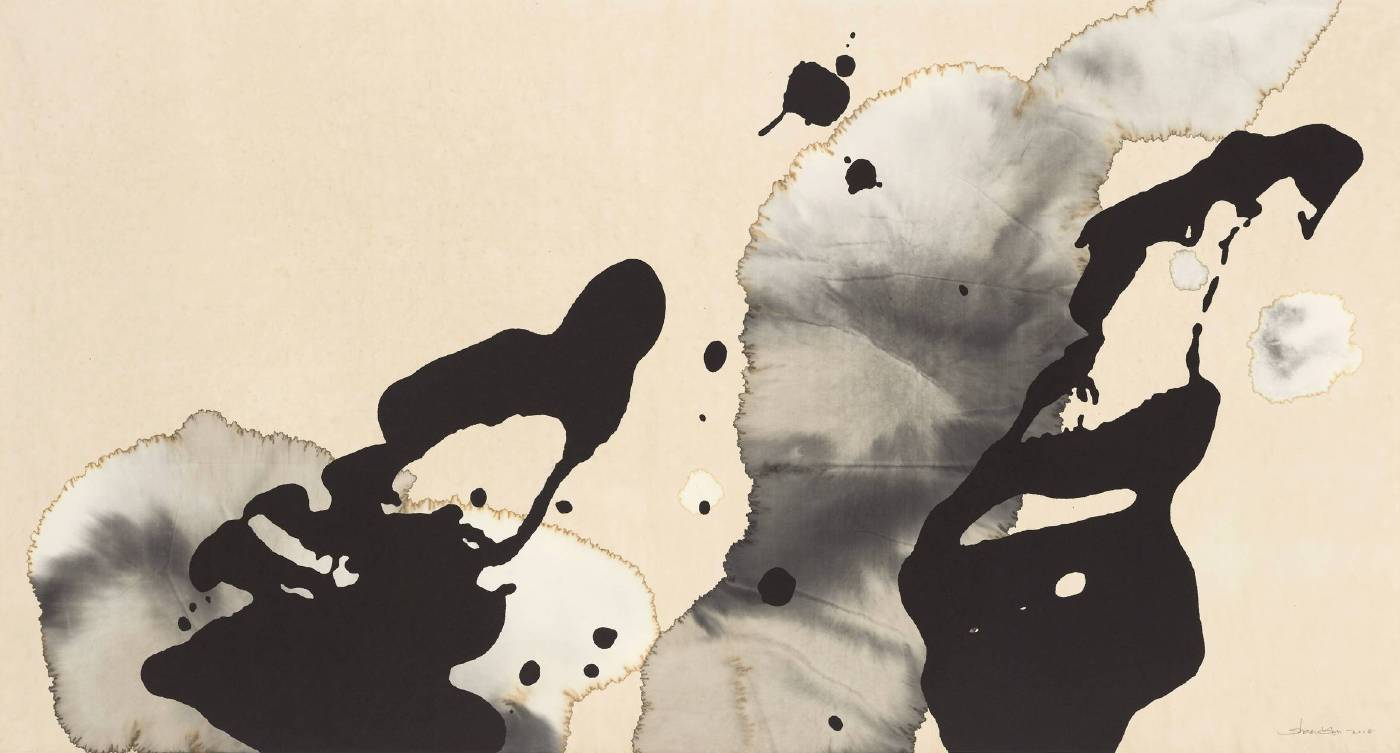 侯珊瑚 Hou Shanhu_态象系列TN1815 Dynamic Phenomenon series TN1815_紙本水墨 Ink on paper_97x180cm_2018