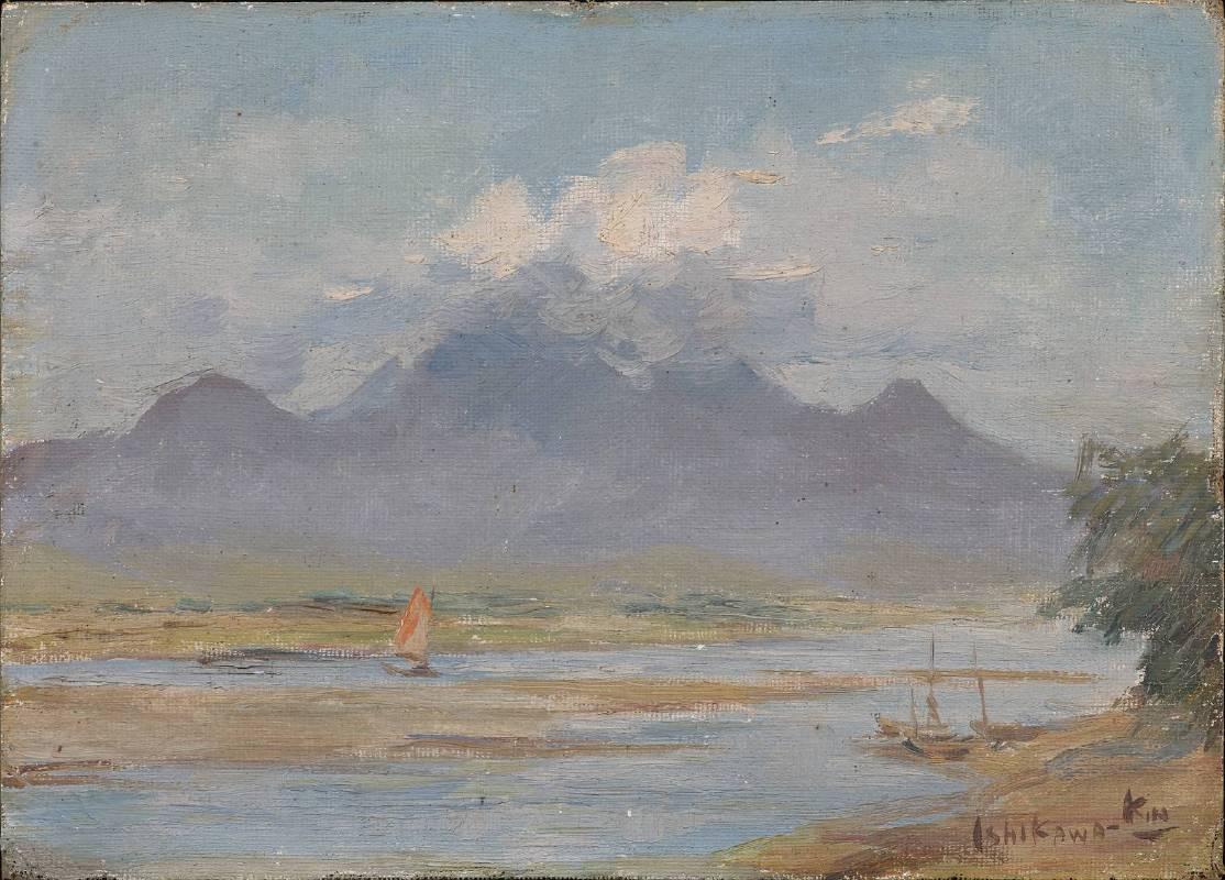 石川欽一郎,1930 油彩、畫布,45.8x58 cm