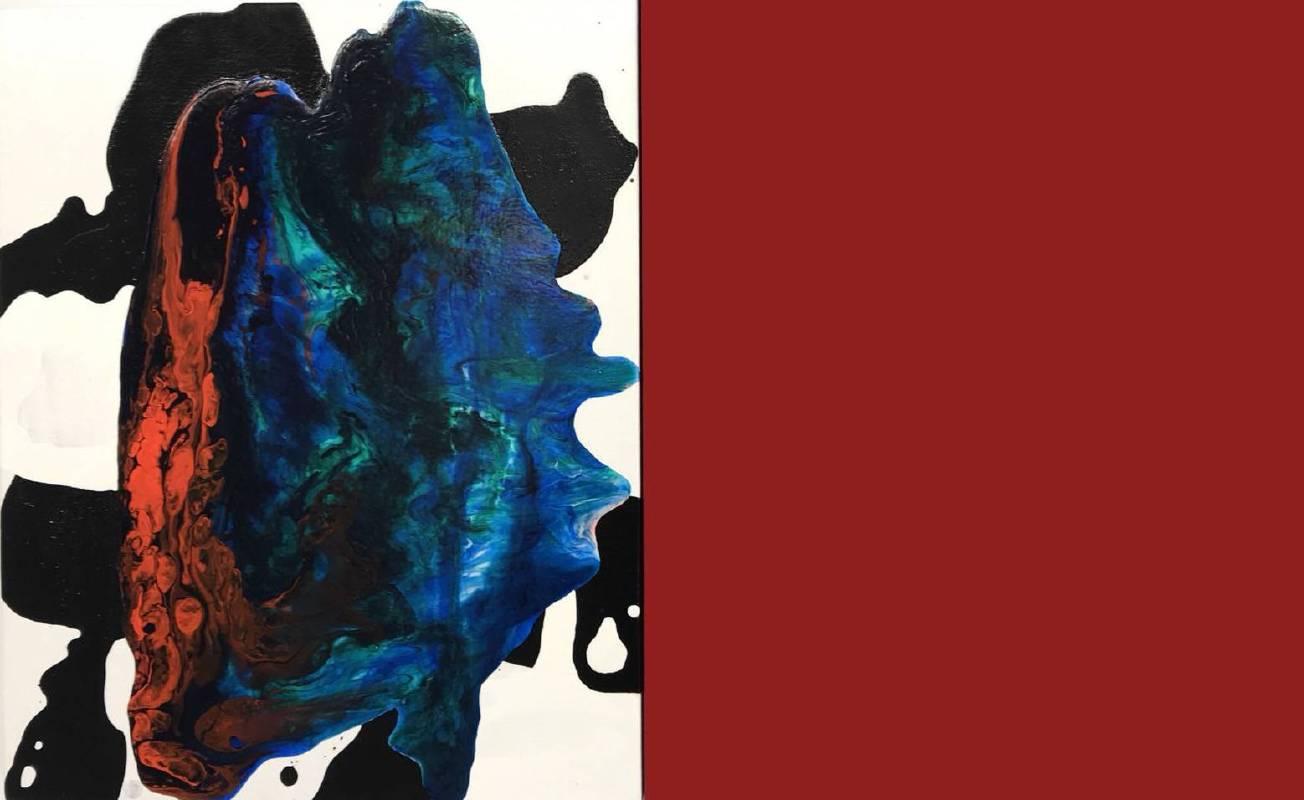 曲德義 Chu Teh-I,〈並置A2017-13〉Juxtaposition A2017-13,2017,壓克力、畫布Acrylic on canvas,41x66cm(41x33+41x33cm)二件一組