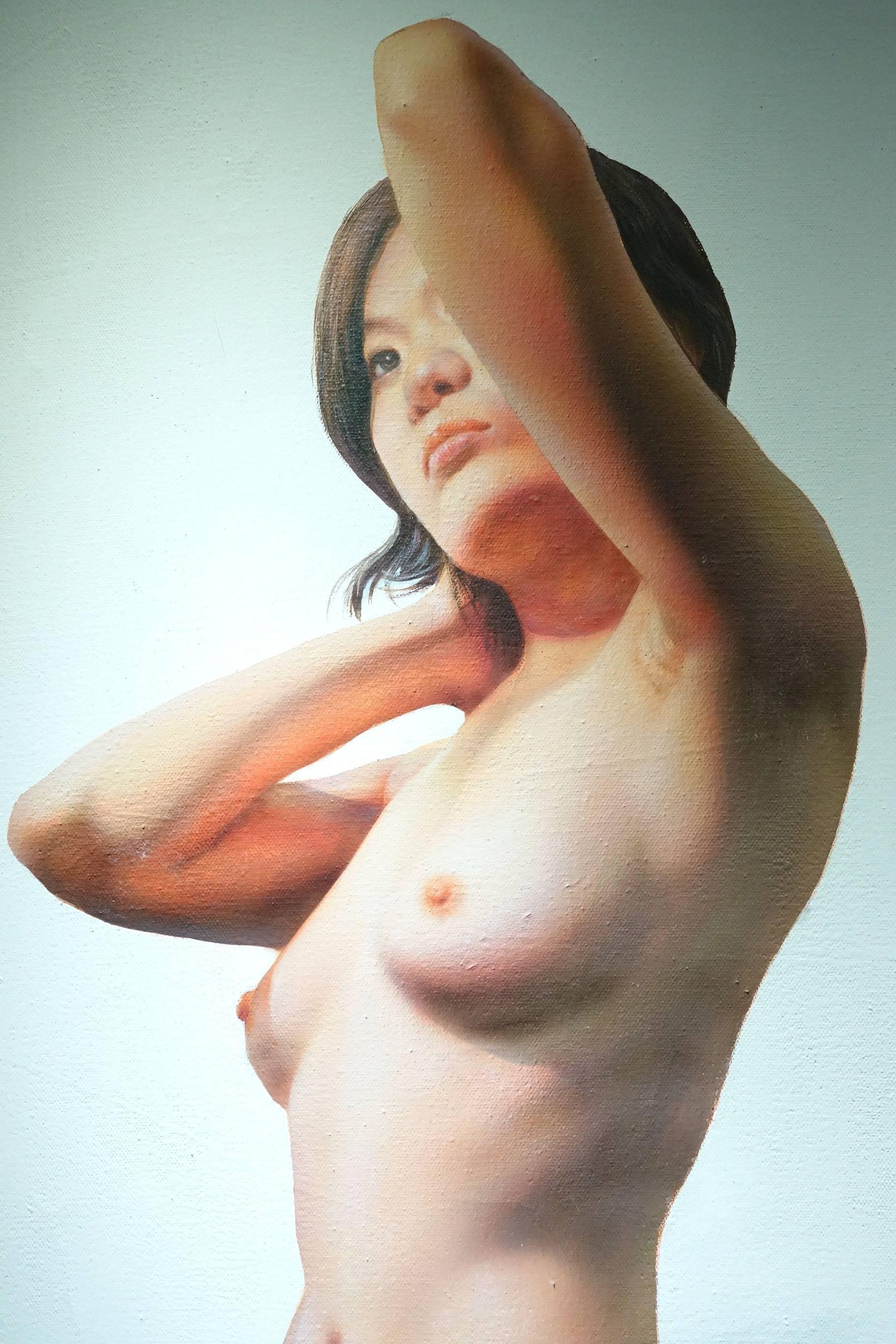 張建雄,《舞臺人生》細節,165 x 143 cm,壓克力,2011。