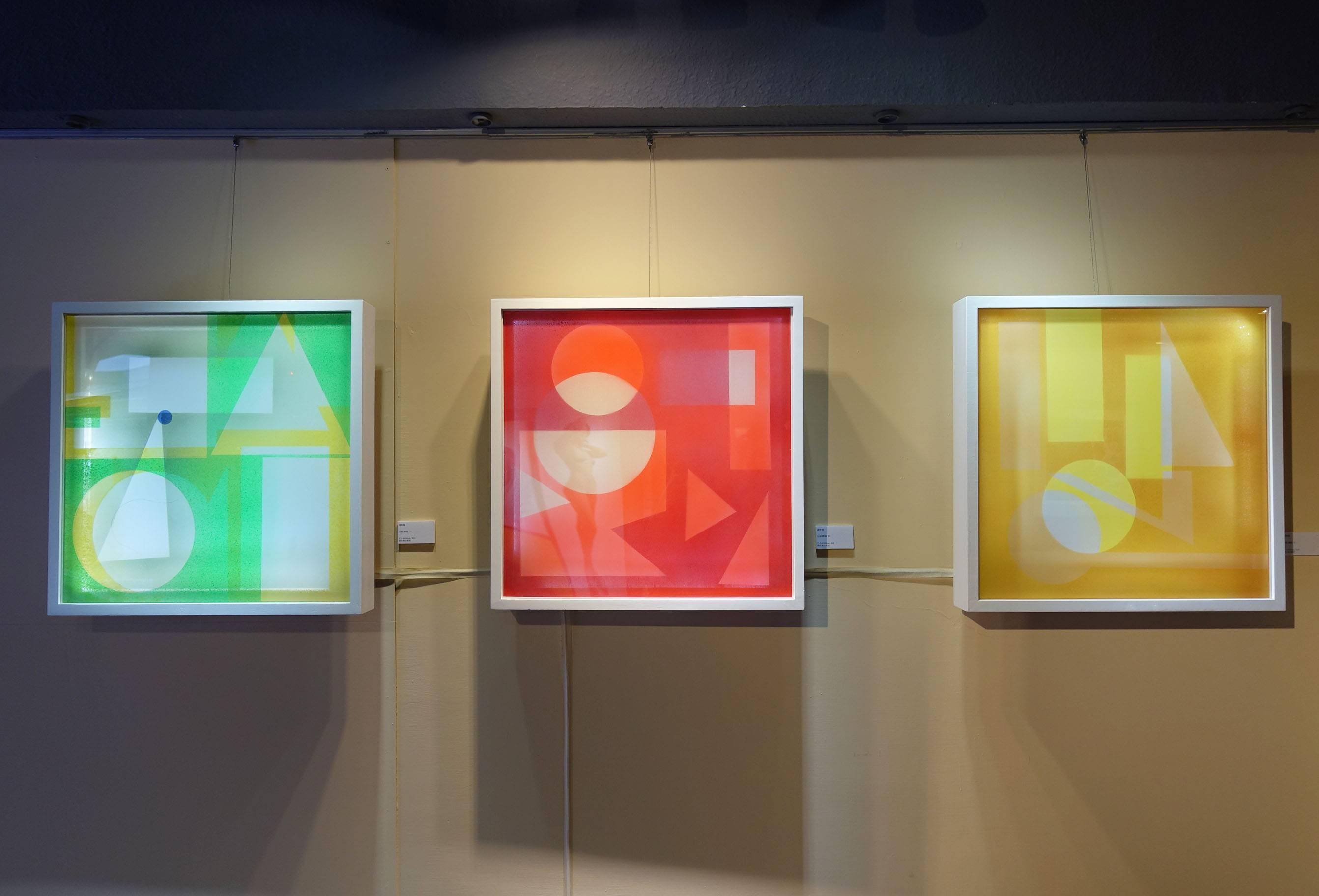 湯雅璇,《分解・構織 》系列作品,60 x 60 cm,複合媒材,2019。
