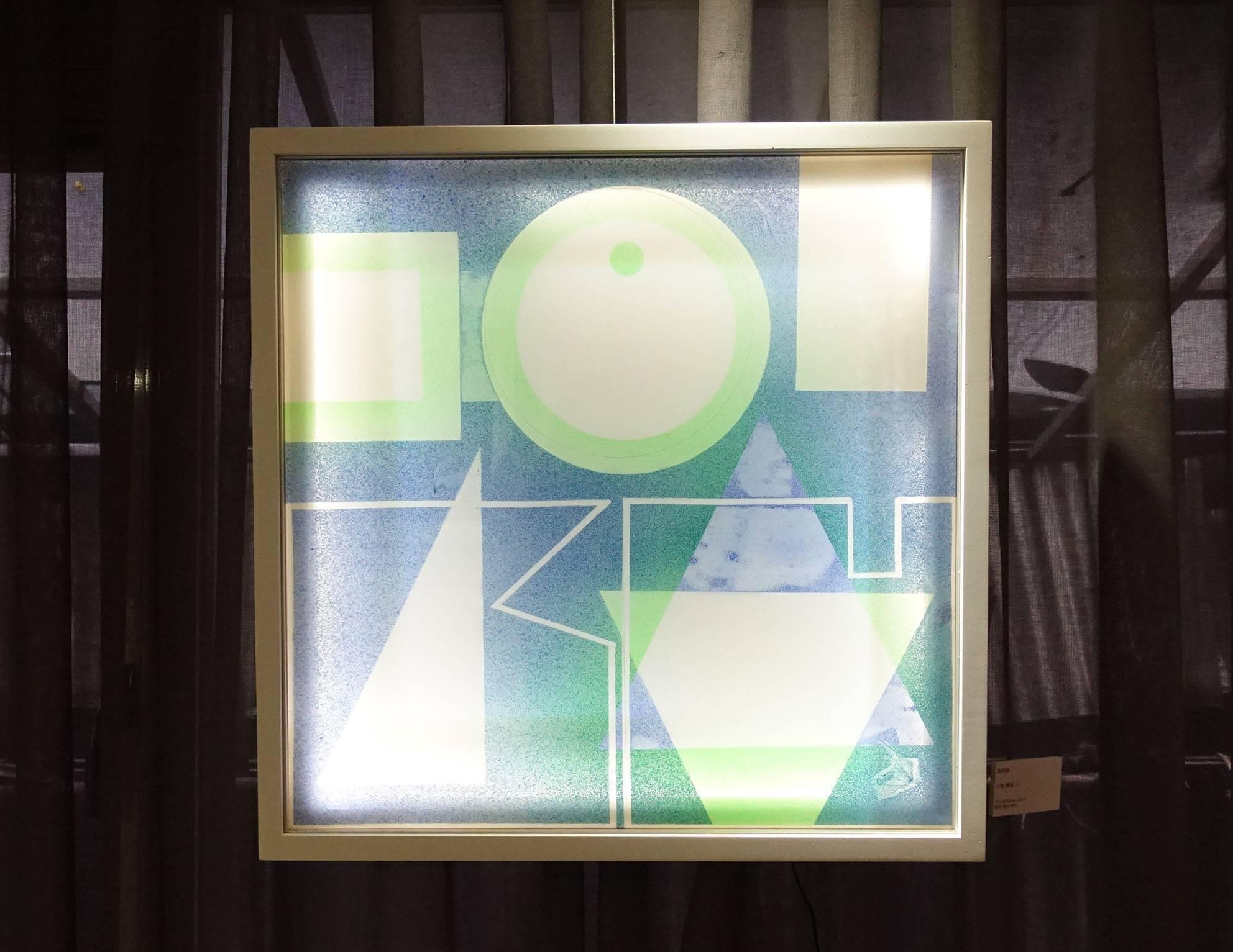 湯雅璇,《分解・構織 六》,60 x 60 cm,複合媒材,2019。