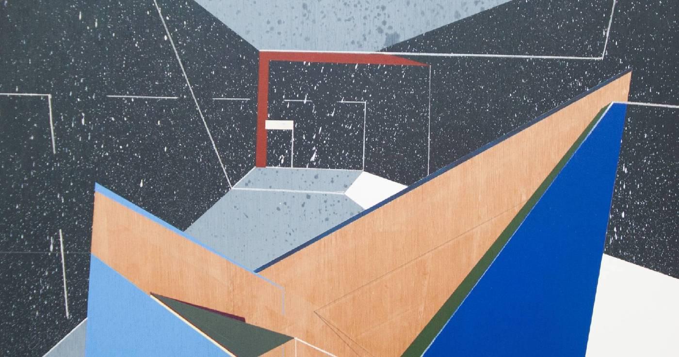 《移植∞繁殖計畫18》(局部)木板、壓克力、鉛筆、炭精筆60x60cx5cm,2019