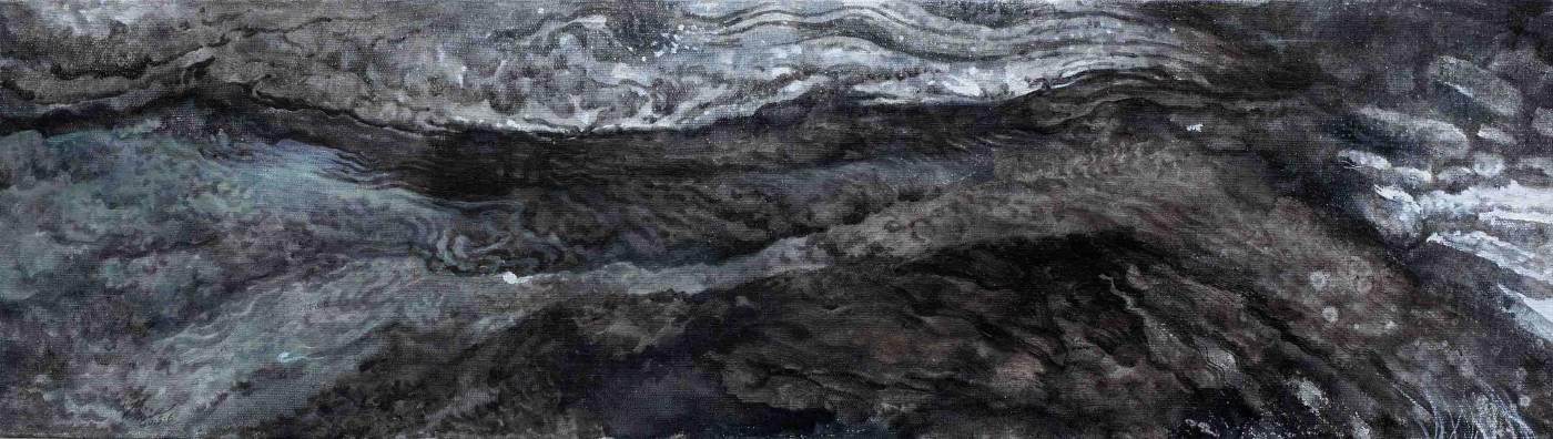 侯俊杰 上善若水·止水 NO.2 2018 布面油畫 23.5x85cm